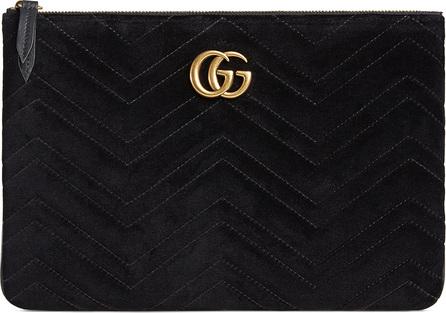 Gucci GG Marmont Velvet Zip Pouch Bag
