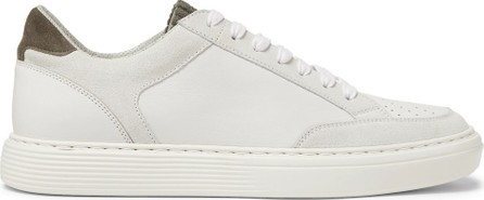 Brunello Cucinelli Suede and Corduroy-Trimmed Leather Sneakers