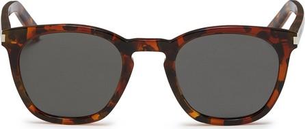 Saint Laurent 'Classic 28' tortoiseshell acetate square sunglasses