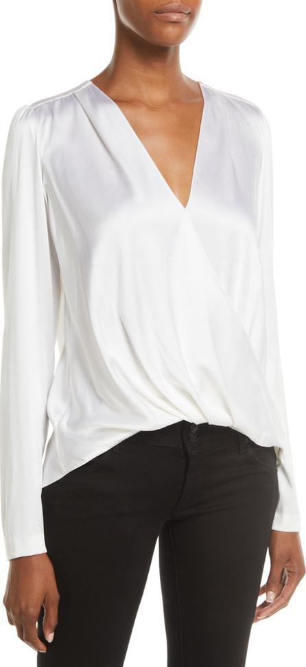 A.L.C. Harmon Draped Long-Sleeve Silk Top