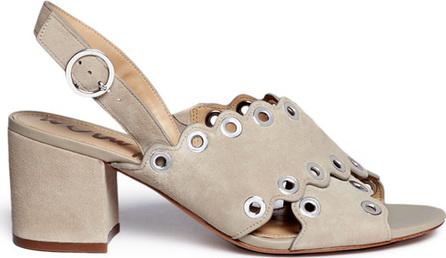 Sam Edelman 'Seana' grommet scalloped suede sandals