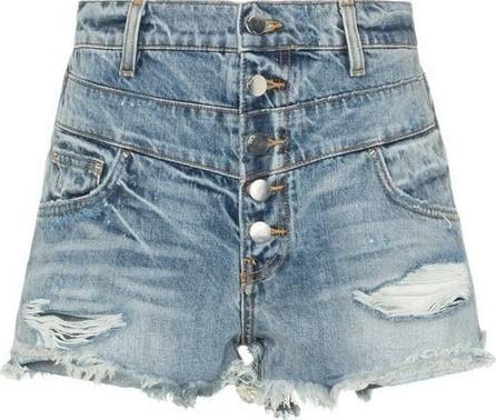 Amiri high-waisted distressed denim shorts
