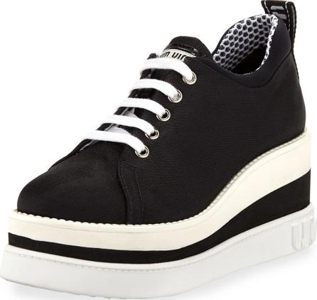 Miu Miu Nylon-Tech Platform Sneaker
