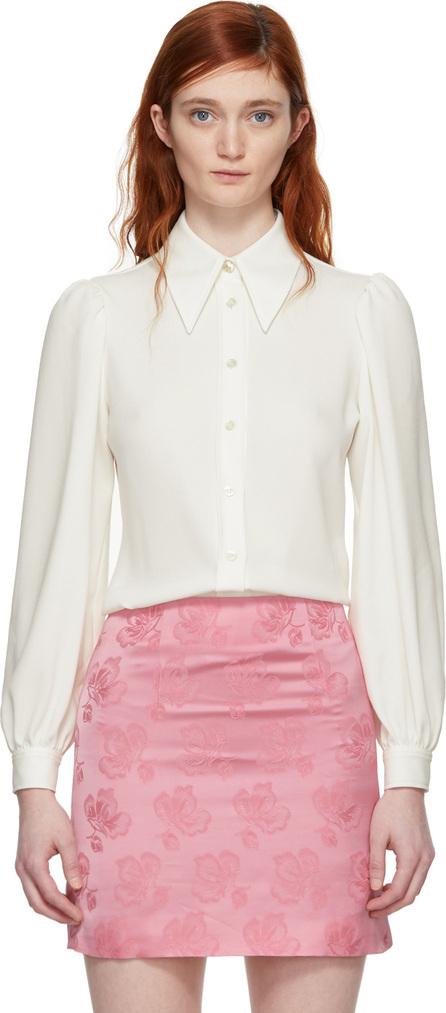 Alexachung Ivory Pointed Collar Shirt