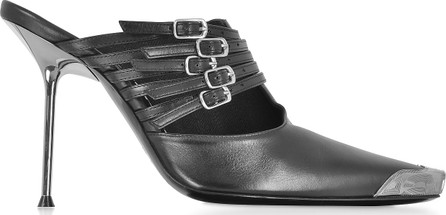 Alexander Wang Minna Black Calf Leather High Heel Mules