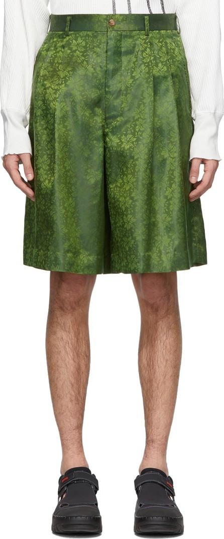 Comme Des Garçons Homme Plus Green B Pattern Shorts