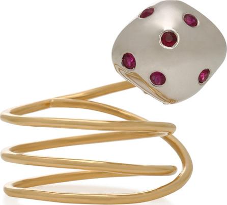 Donna Hourani Mushroom 18K Gold and Ruby Ring