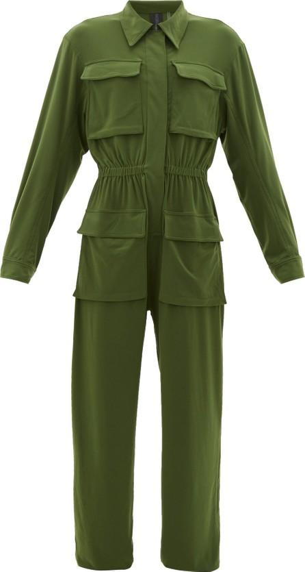 Norma Kamali Patch-pocket zipped jersey jumpsuit