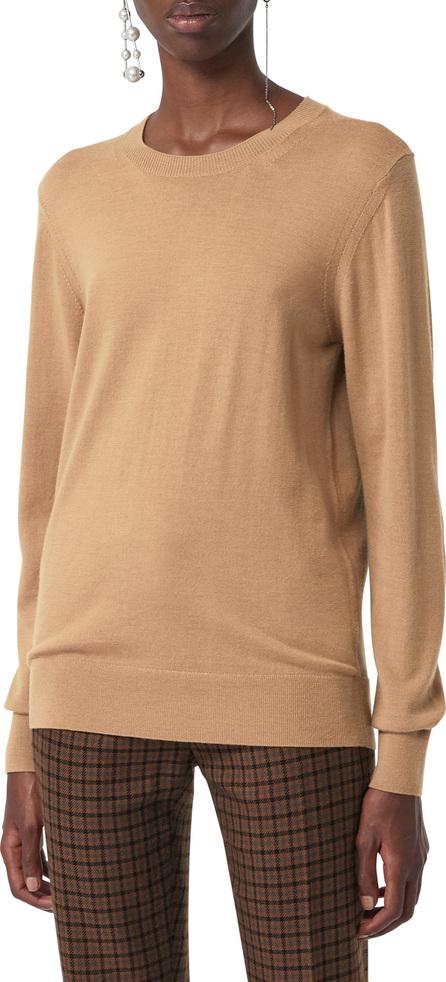 Burberry London England Bempton Tartan Elbow Patch Merino Wool Sweater