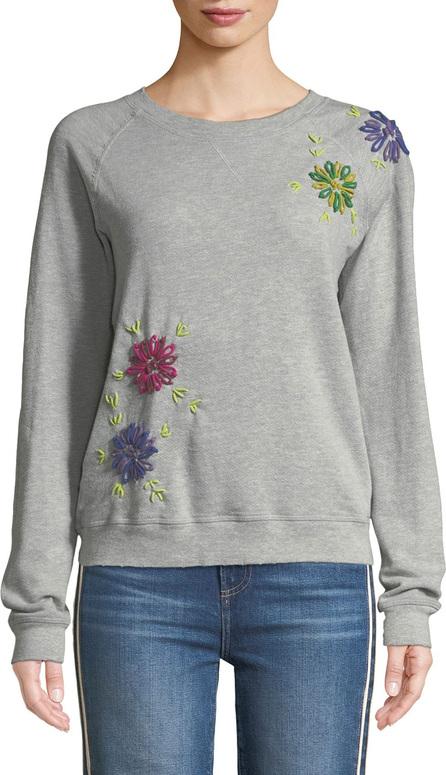 Etienne Marcel Floral Embroidered Crewneck Sweatshirt