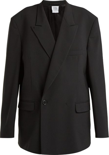 Vetements Double-breasted cotton blazer