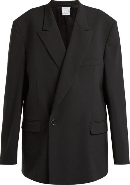 Vetements Double-breasted cotton blazer