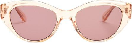 GARRETT LEIGHT Del Rey round-frame cat-eye sunglasses