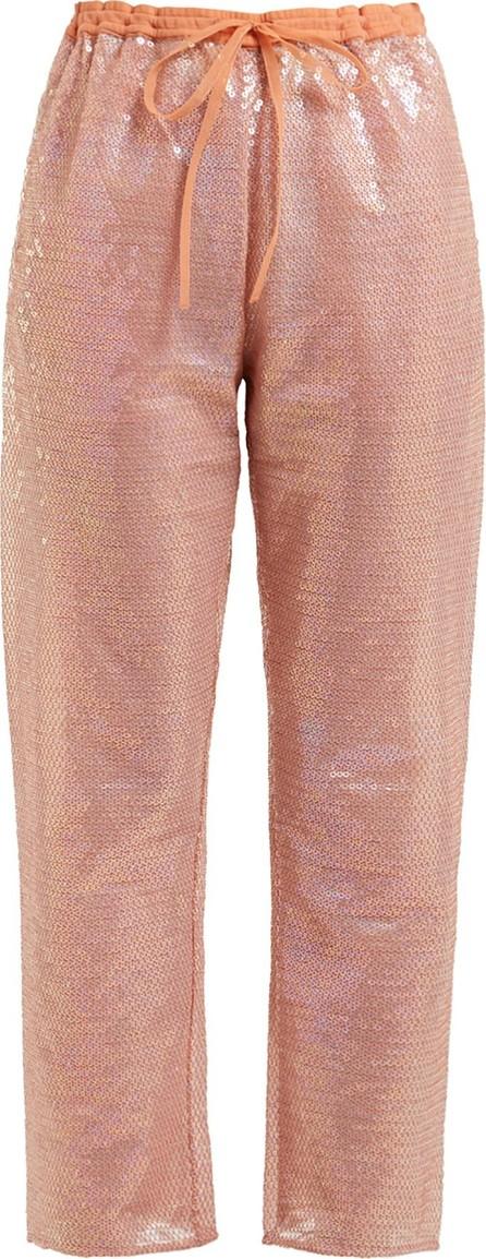 ASHISH Sequin-embellished drawstring trousers