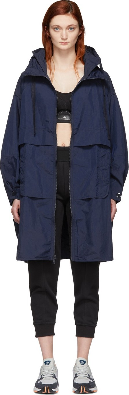 Adidas By Stella McCartney Indigo Parka Coat