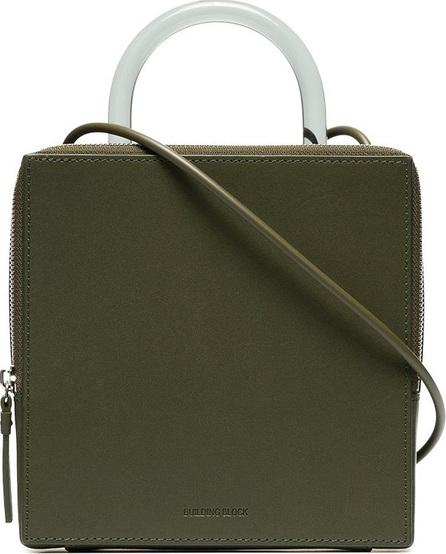 Building Block Green Box leather shoulder bag