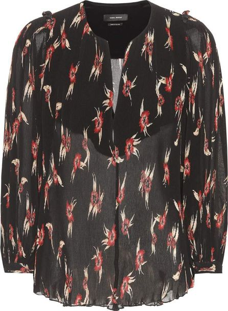 Isabel Marant Wave floral-printed pleated blouse
