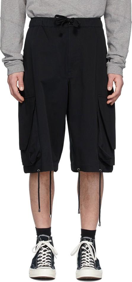 J.W.Anderson Black Oversized Drawstring Cargo Shorts