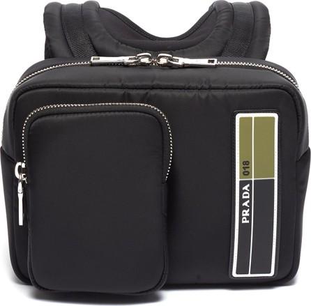 Prada Logo patch pocket front mini backpack