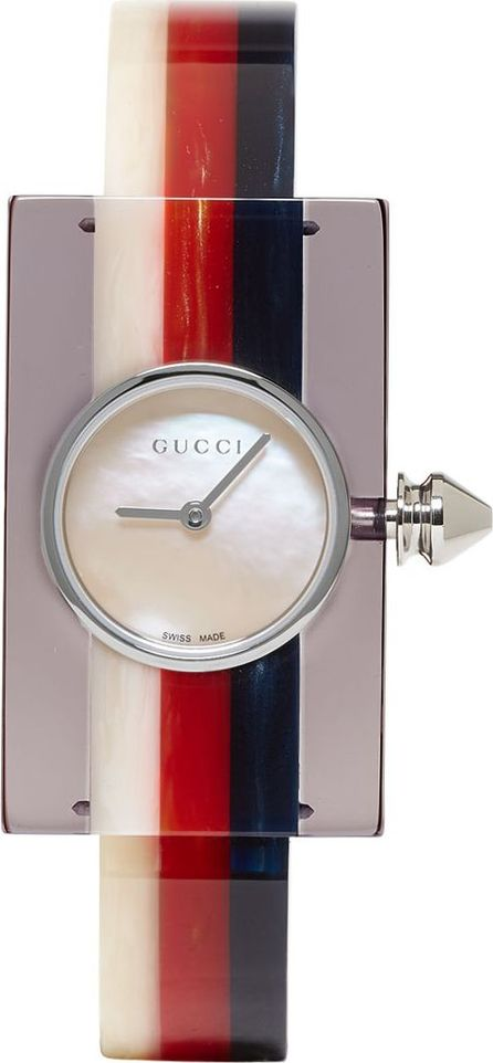 Gucci Multicolor Plexiglass Vintage Web Watch