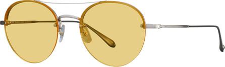 GARRETT LEIGHT Beaumont Rounded Semi-Rimless Sunglasses
