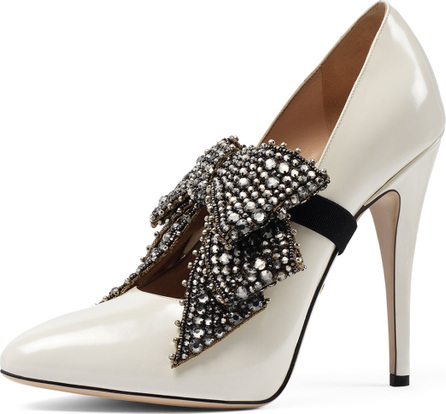 Gucci Elaisa Crystal Bow Pump