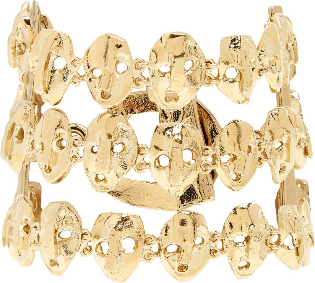 Valentino - Three strand skull-embellished bracelet