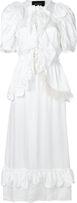 Simone Rocha Scalloped midi dress