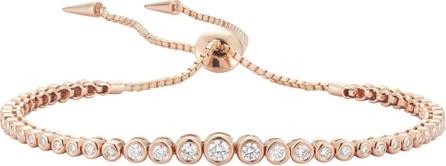 Jemma Wynne Prive Diamond Slider Bracelet in 18K Rose Gold