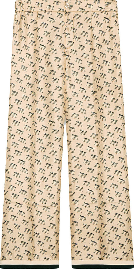 Gucci Gucci invite stamp silk pants