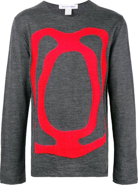 Comme Des Garcons Round neck intarsia sweater