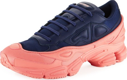 Adidas By Raf Simons Men's Ozweego Dipped Color Trainer Sneakers, Blue/Pink