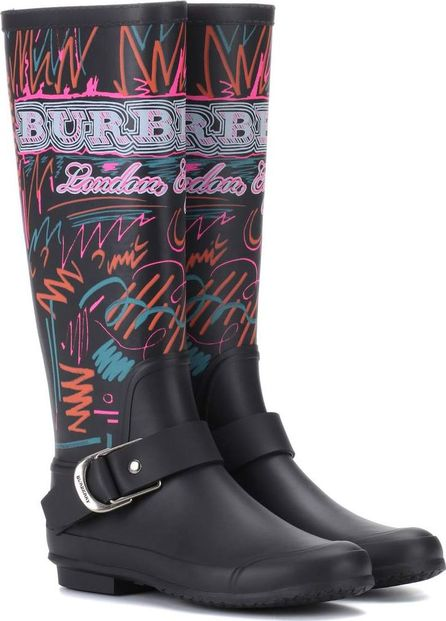 Burberry London England Doodle printed rubber boots