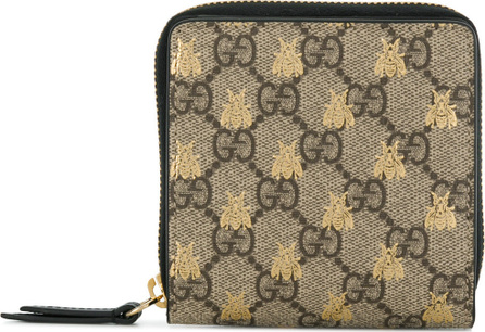 Gucci Embroidered bee wallet