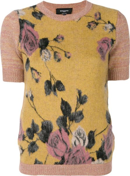 ROCHAS roses pattern knitted blouse