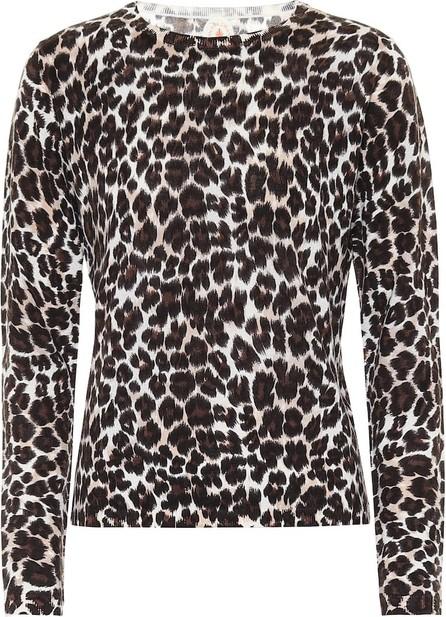 Jardin des Orangers Leopard-print merino wool sweater