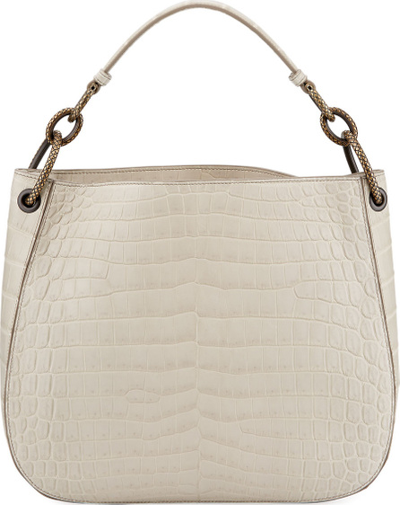 Bottega Veneta Soft Crocodile Loop Hobo Bag