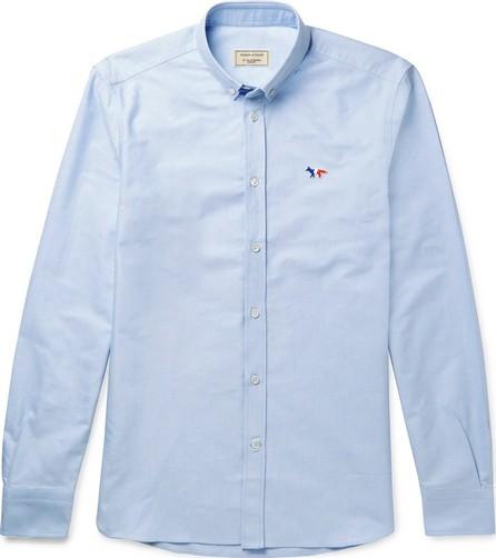 Maison Kitsune Slim-Fit Button-Down Collar Cotton Oxford Shirt