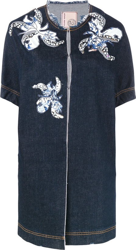 Antonio Marras floral motif patches denim jacket