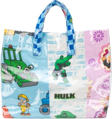 Comme Des Garcons cartoon print shopper bag