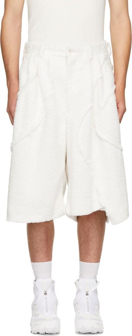 Comme Des Garçons Homme Plus White Boa Plushy Shorts