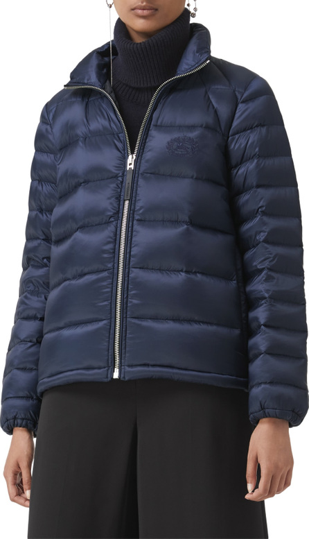 Burberry London England Smethwick Archive Logo Quilted Down Puffer Coat