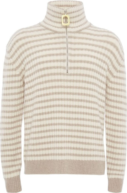 J.W.Anderson Striped zip-up knitted jumper