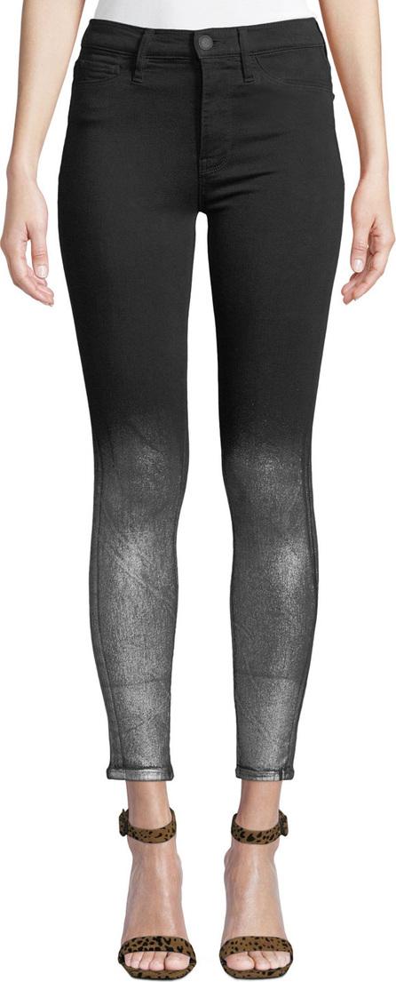 Hudson Barbara High-Rise Super Skinny Ankle Jeans w/ Metallic Spray