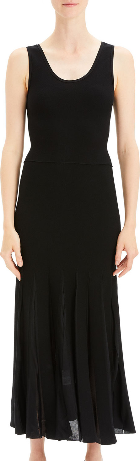 Theory Pleated Scoop-Neck Tank Dress