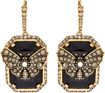 Alexander McQueen Butterfly pavé-crystal drop earrings