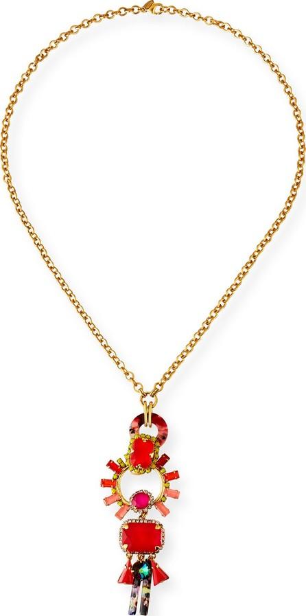 Elizabeth Cole Mabel Linear Pendant Necklace