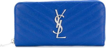 Saint Laurent Monogram zip around purse