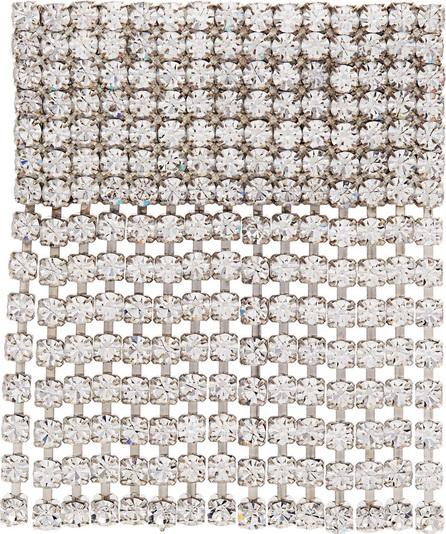Alessandra Rich Crystal-embellished fringe brooch