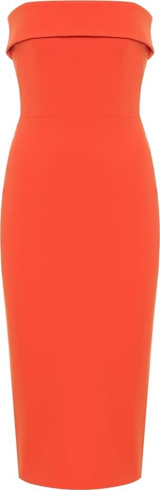 Alex Perry Audra strapless crêpe dress